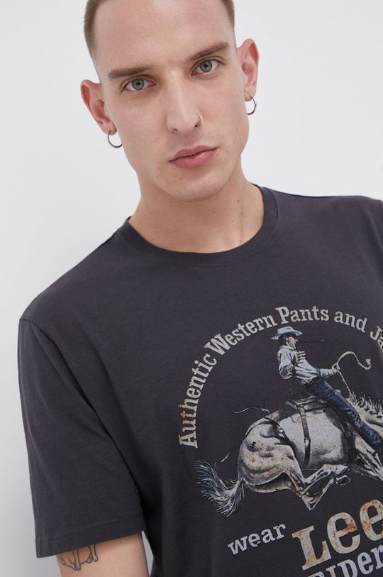 Lee - T-shirt bawełniany czarny