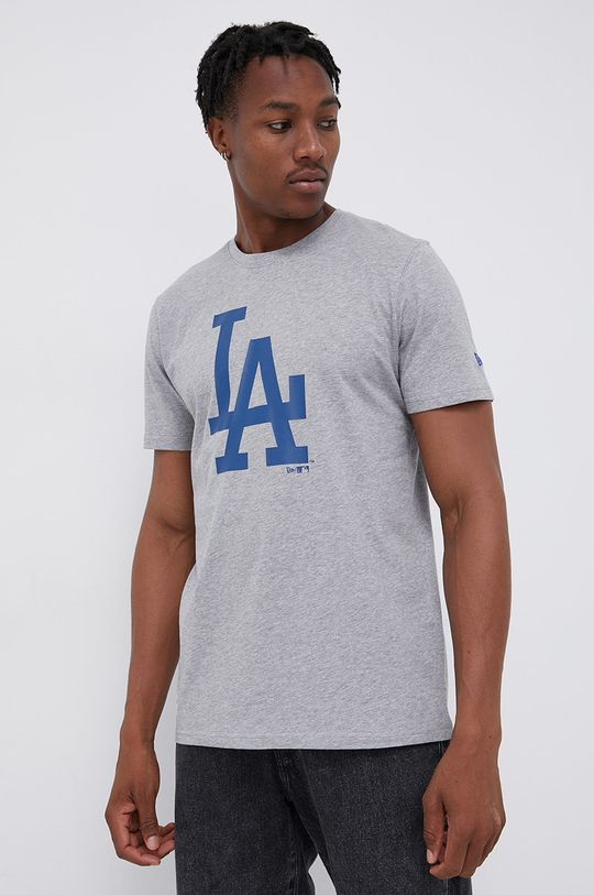 szary New Era - T-shirt bawełniany