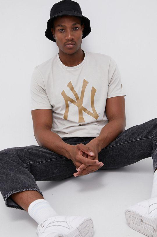 piaskowy New Era - T-shirt bawełniany Męski