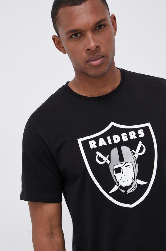 czarny New Era - T-shirt bawełniany