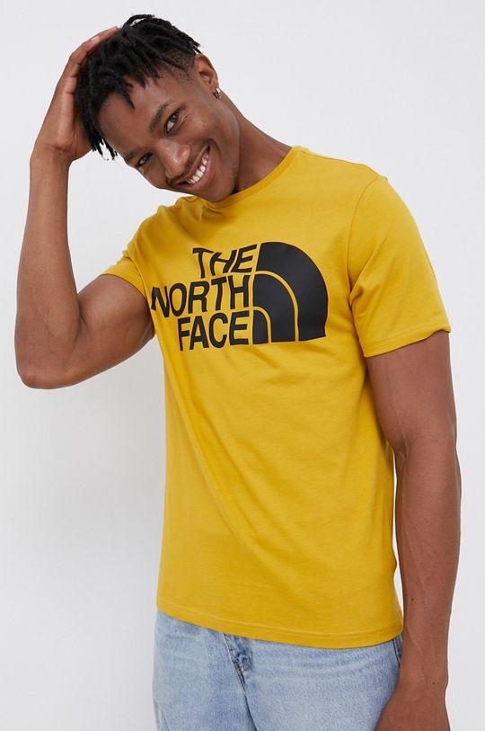 horčicová The North Face - Bavlnené tričko Pánsky