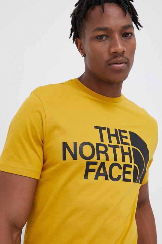 horčicová The North Face - Bavlnené tričko