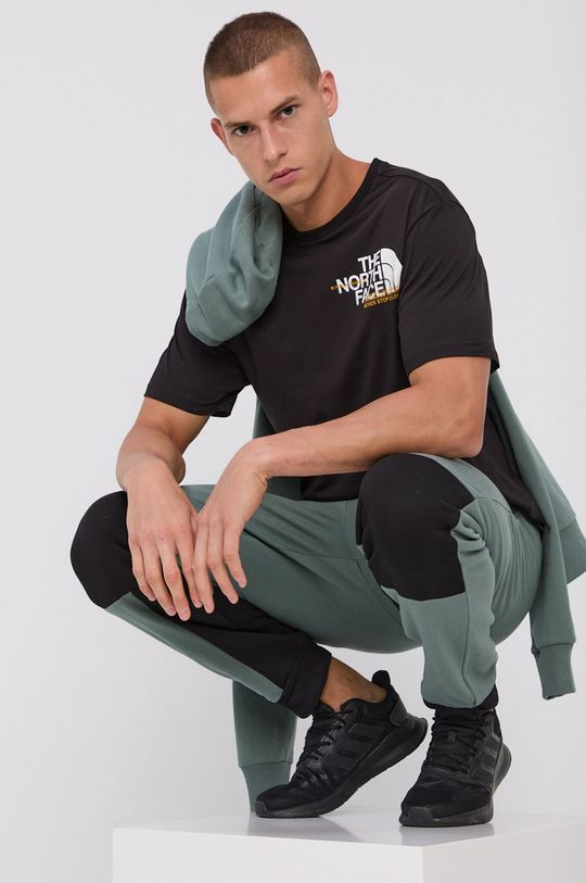 negru The North Face - Tricou din bumbac De bărbați