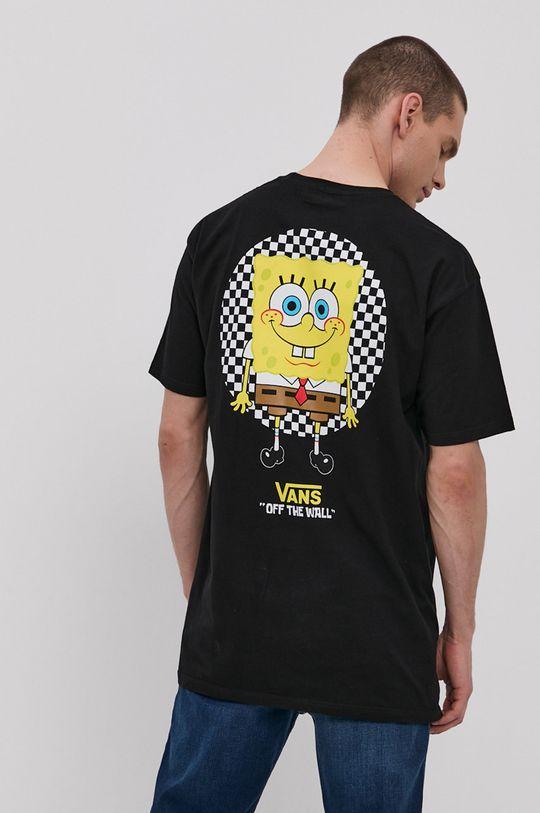 czarny Vans - T-shirt x Spongebob