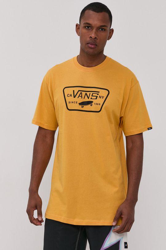 ciepły oliwkowy Vans - T-shirt Męski