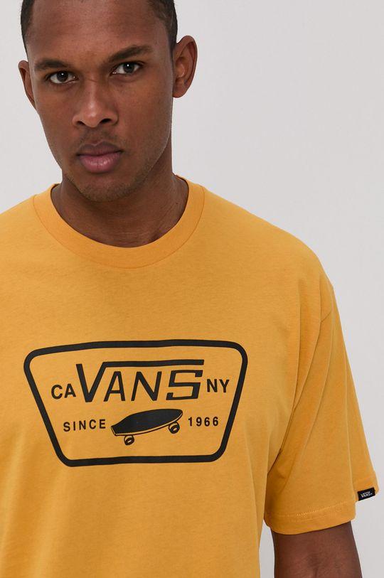 ciepły oliwkowy Vans - T-shirt