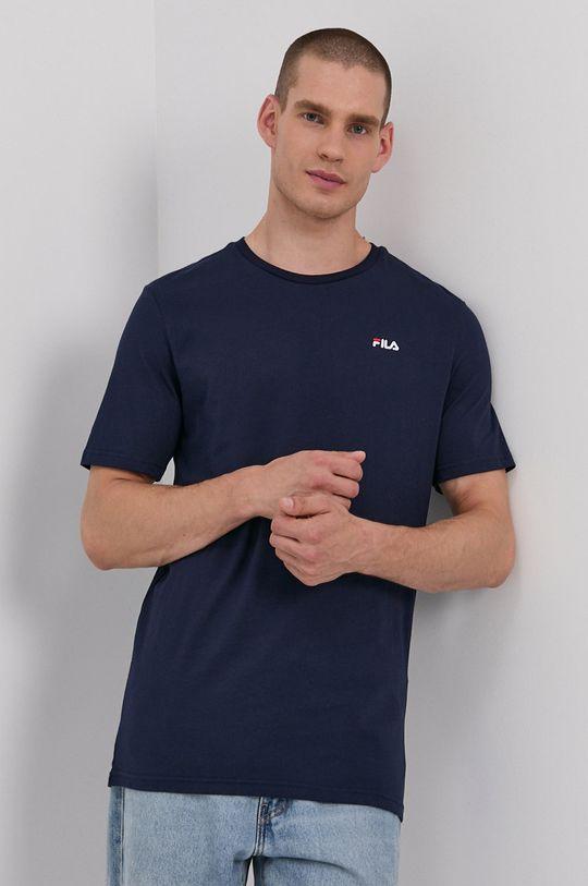 tmavomodrá Fila - Bavlnené tričko Pánsky