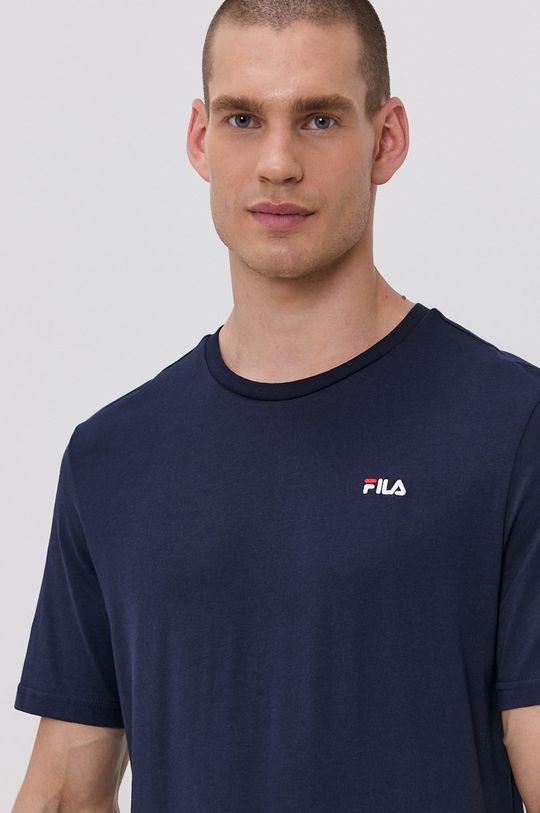 tmavomodrá Fila - Bavlnené tričko