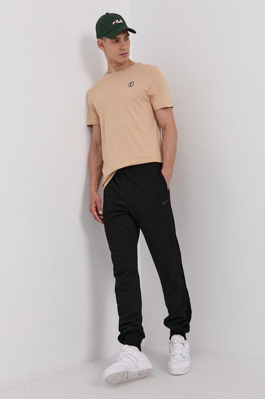 Fila - Bavlněné tričko písková