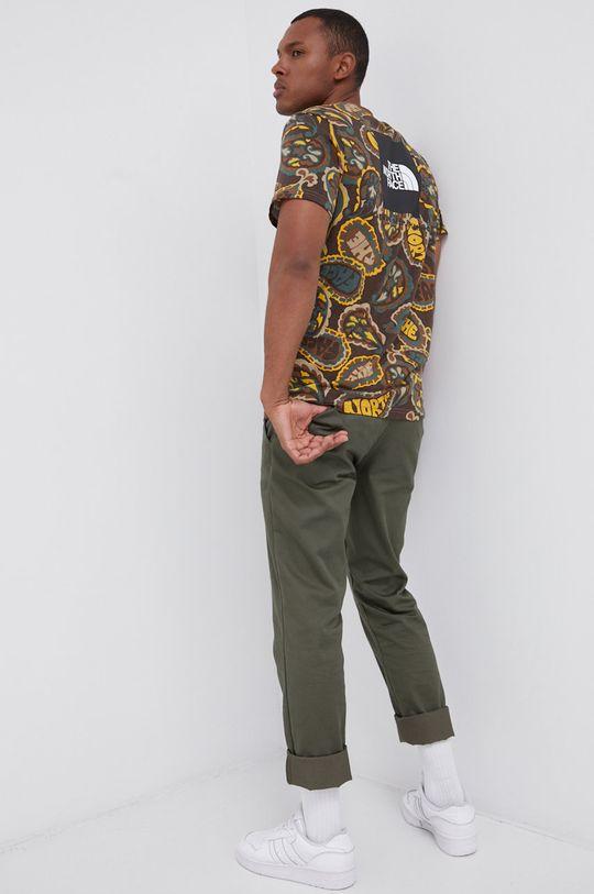 brązowy The North Face - T-shirt bawełniany Męski