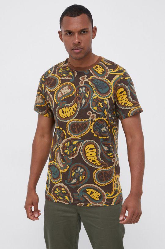 The North Face - T-shirt bawełniany brązowy
