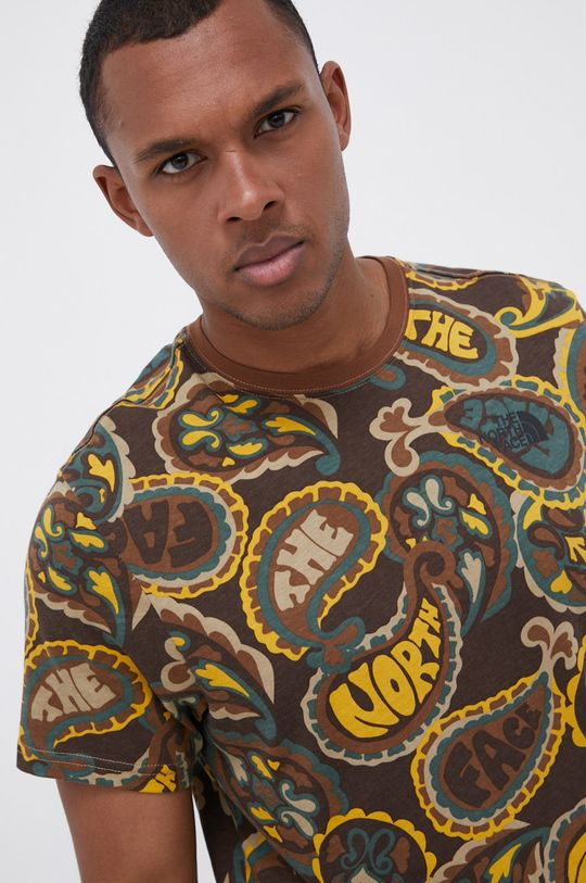 brązowy The North Face - T-shirt bawełniany