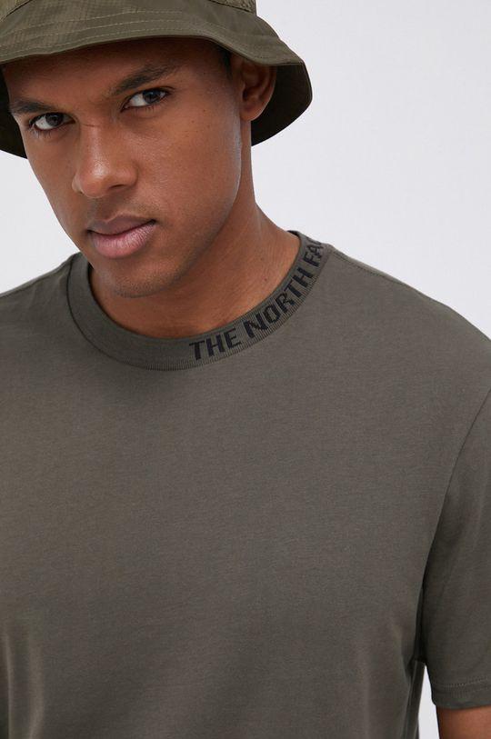brązowa zieleń The North Face - T-shirt bawełniany