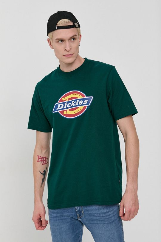 Dickies - Tricou din bumbac verde inchis