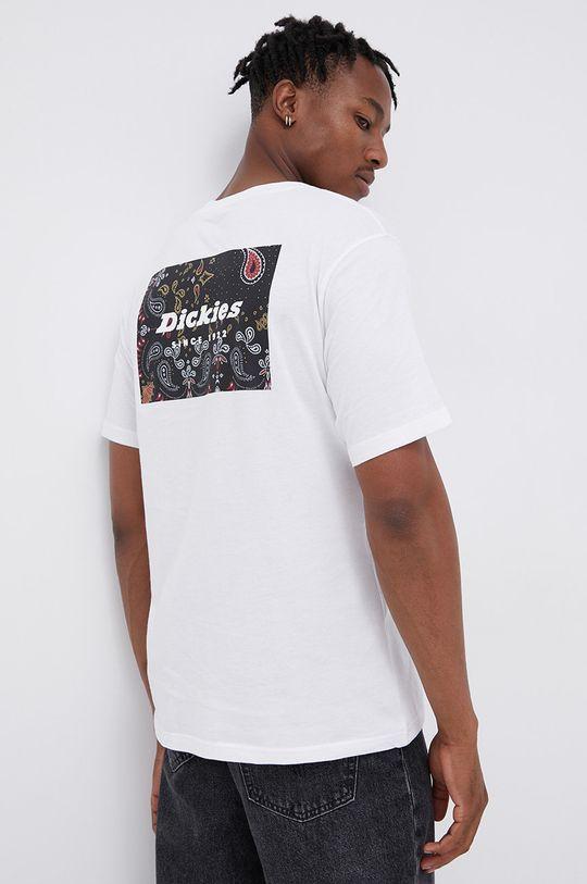 biały Dickies - T-shirt bawełniany Męski