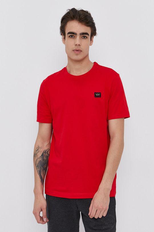 červená PAUL&SHARK - Bavlnené tričko Pánsky