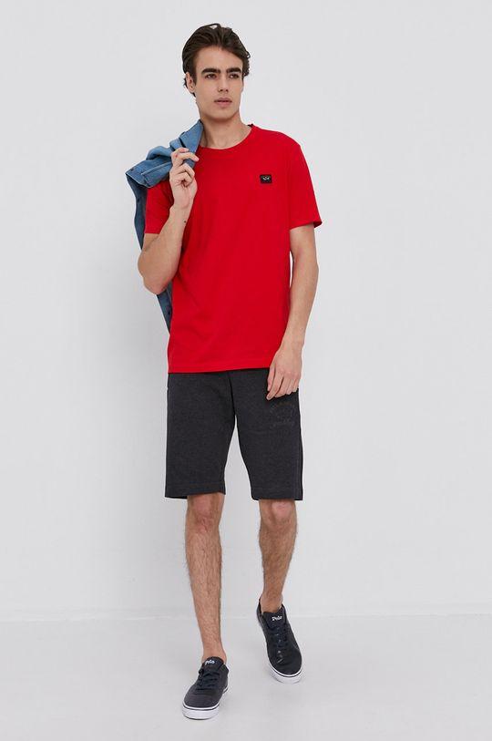 PAUL&SHARK - Bavlnené tričko červená
