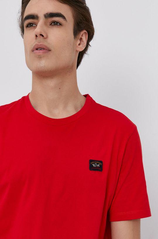 červená PAUL&SHARK - Bavlnené tričko