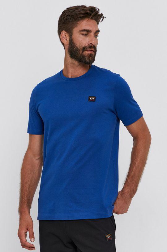 ocelová modrá PAUL&SHARK - Bavlněné tričko Pánský
