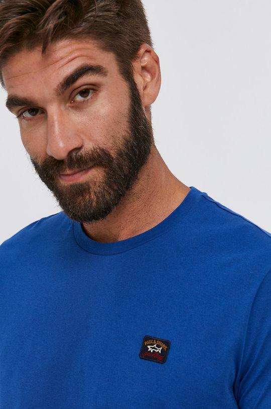 ocelová modrá PAUL&SHARK - Bavlněné tričko