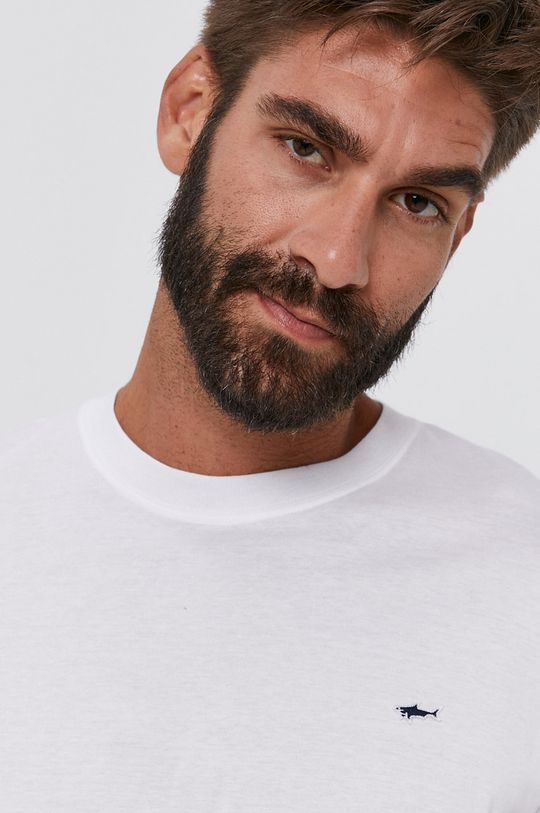 bílá PAUL&SHARK - Bavlněné tričko