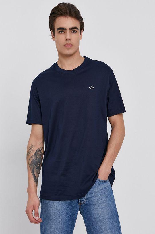 tmavomodrá PAUL&SHARK - Bavlnené tričko Pánsky