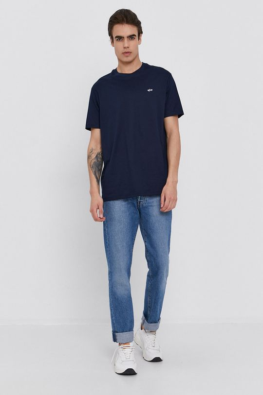 PAUL&SHARK - Bavlnené tričko tmavomodrá