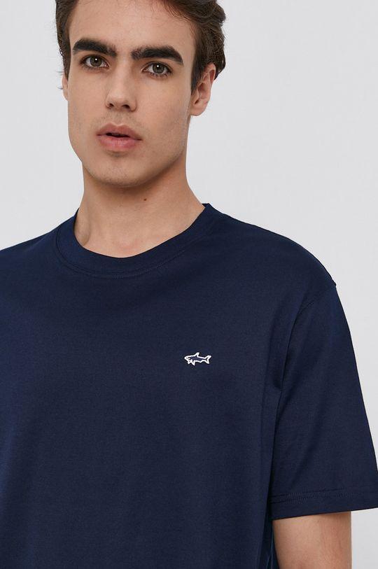 tmavomodrá PAUL&SHARK - Bavlnené tričko