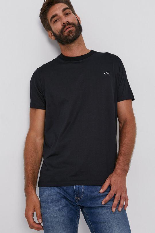 černá PAUL&SHARK - Bavlněné tričko Pánský