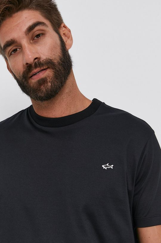 černá PAUL&SHARK - Bavlněné tričko