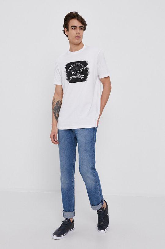 PAUL&SHARK - Bavlnené tričko biela