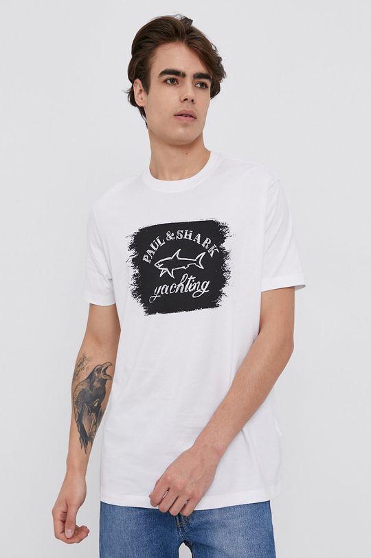 biela PAUL&SHARK - Bavlnené tričko