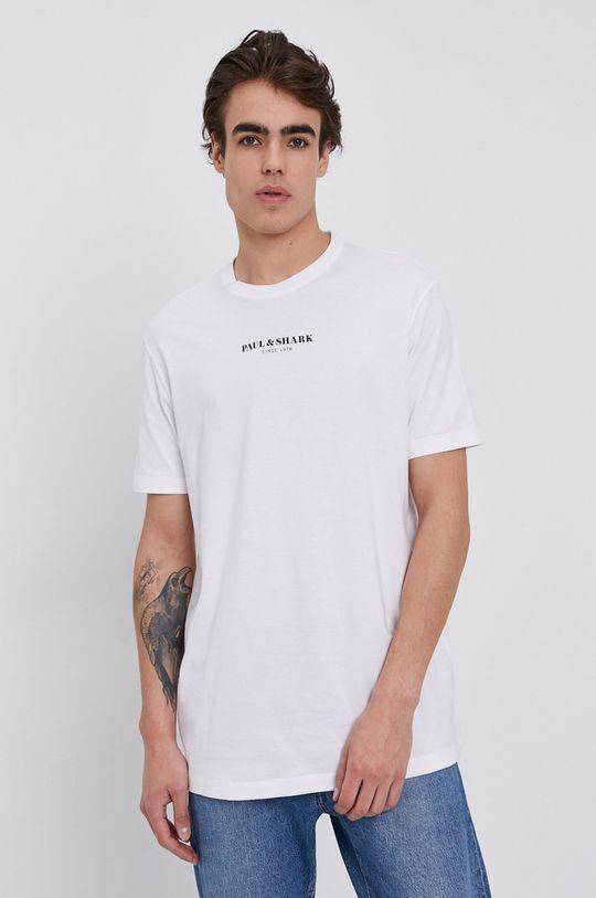 alb PAUL&SHARK - Tricou din bumbac De bărbați