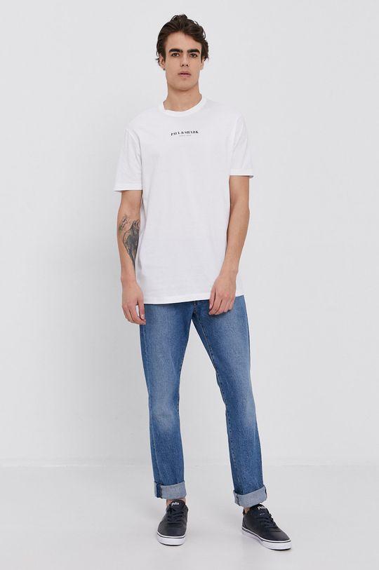 PAUL&SHARK - Tricou din bumbac alb
