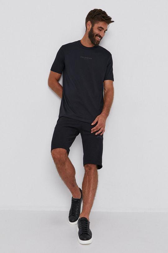 čierna PAUL&SHARK - Bavlnené tričko Pánsky