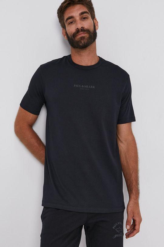 PAUL&SHARK - Bavlnené tričko čierna