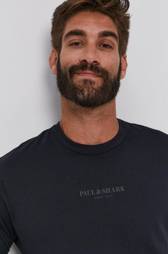 čierna PAUL&SHARK - Bavlnené tričko