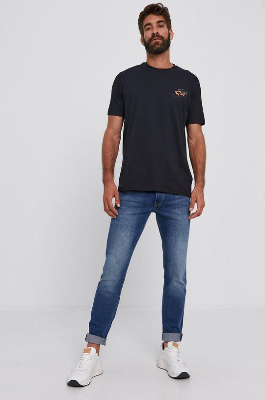 PAUL&SHARK - Bavlněné tričko černá