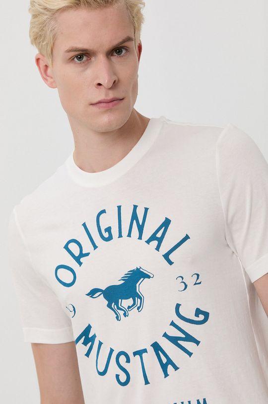 alb Mustang - Tricou din bumbac De bărbați