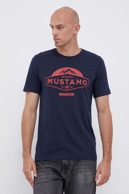 námořnická modř Mustang - Bavlněné tričko Pánský