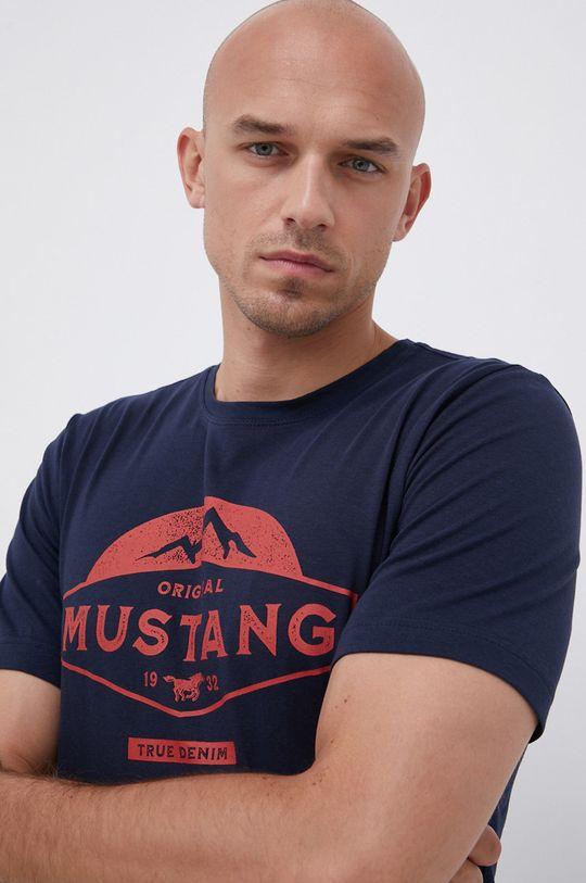 námořnická modř Mustang - Bavlněné tričko