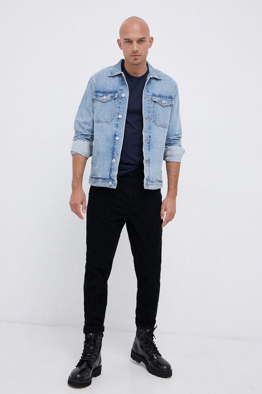 Mustang - Bavlněné tričko námořnická modř