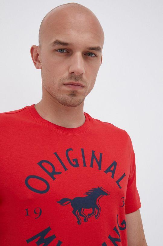červená Mustang - Bavlněné tričko