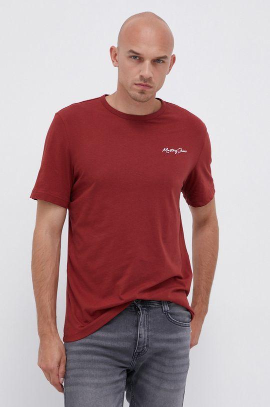 mahagonová Mustang - Bavlněné tričko