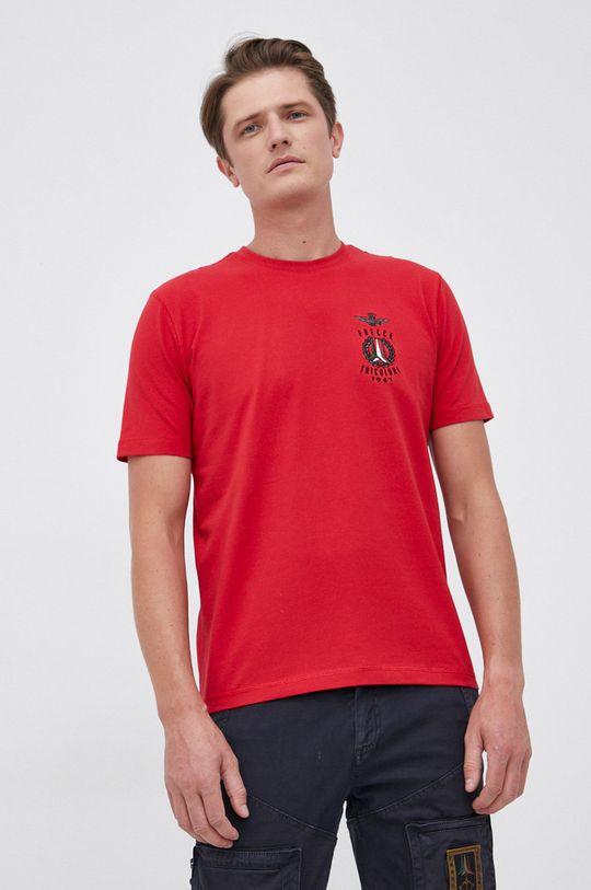 czerwony Aeronautica Militare - T-shirt Męski