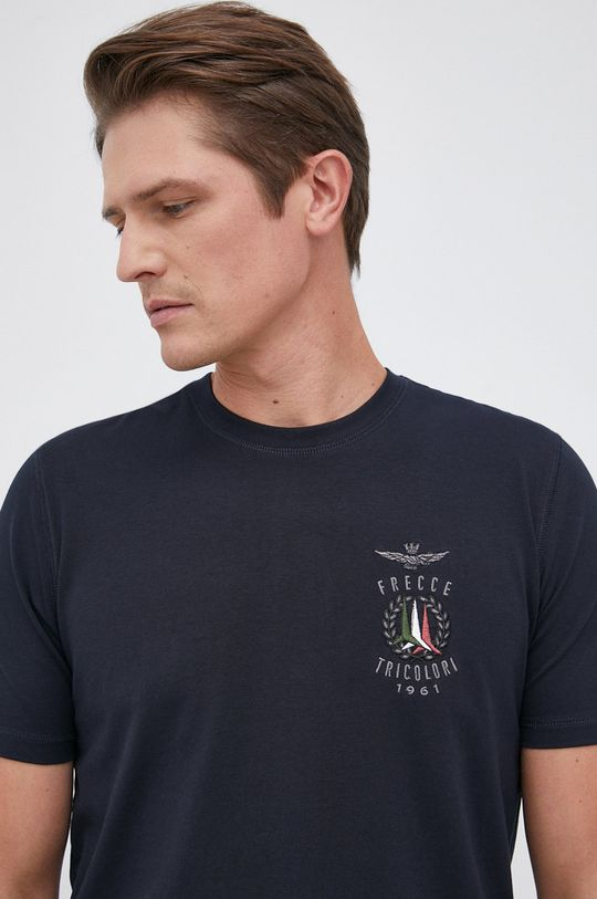 granatowy Aeronautica Militare - T-shirt Męski