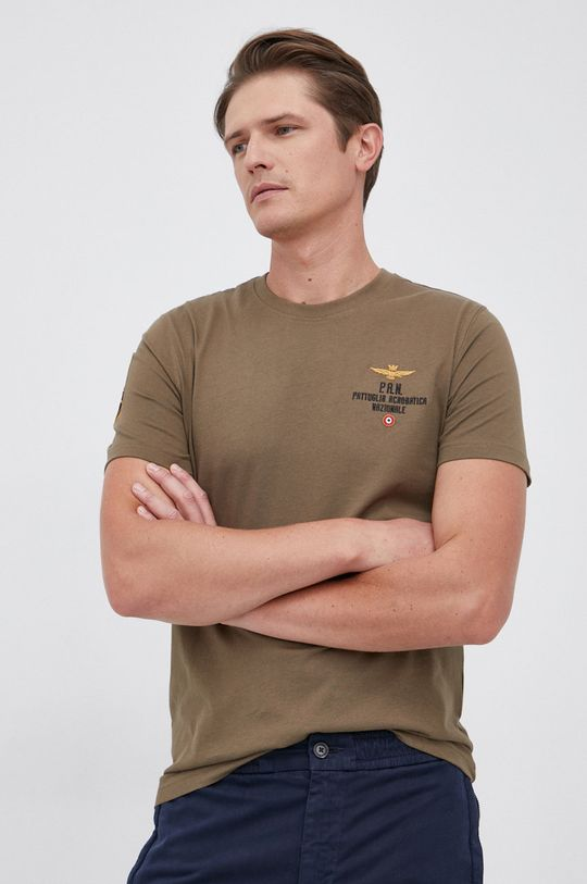 militarny Aeronautica Militare - T-shirt bawełniany Męski