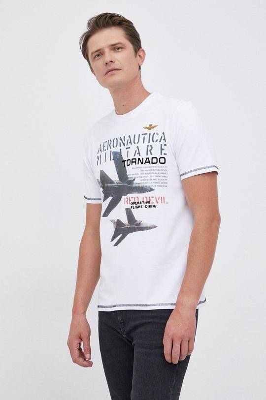 biały Aeronautica Militare - T-shirt Męski
