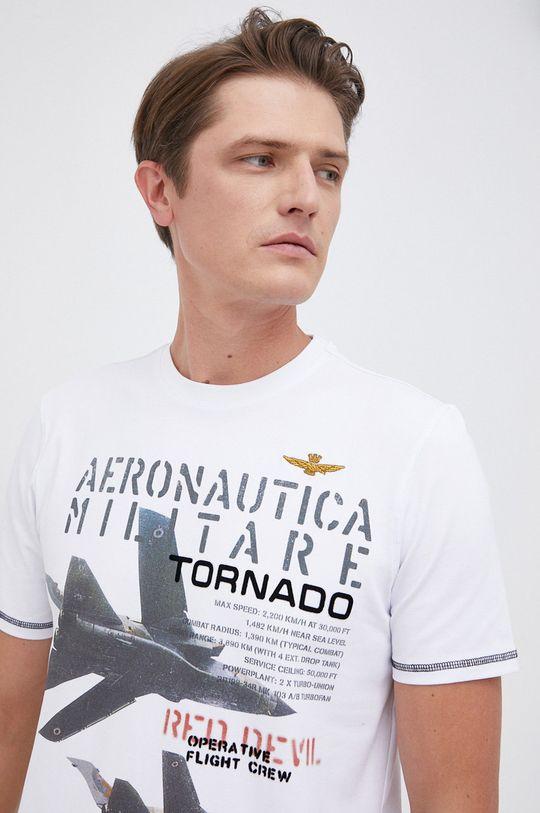 biały Aeronautica Militare - T-shirt