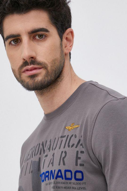 szary Aeronautica Militare - T-shirt